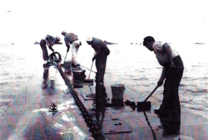 5. Sailors scrubbing Searaven
